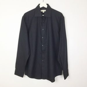 Pronto Uomo NWT Black & Blue Dress Shirt ▪️